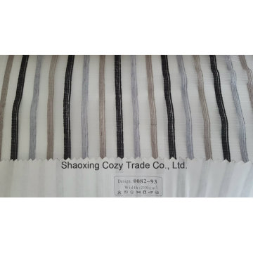 New Popular Project Stripe Organza Voile Sheer Curtain Fabric 008293