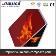Alusign heat resistant board for fireplace