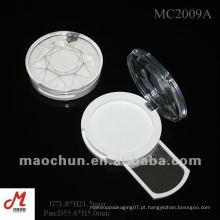 MC2009A Caixa plástica cosmética do pó de face