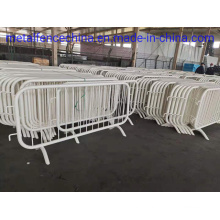 Hot Dipped Galvanized Then Painted White Crowd Control Barrier for Qatar.