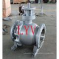 API 150lb válvula de bola flotante del acero de molde de 12 pulgadas con la fábrica profesional de China