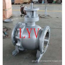 API 150lb válvula de esfera de flutuação do aço de molde de 12 polegadas com a fábrica profissional de China