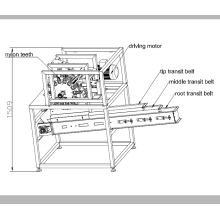 Automatic wing cut-up machine