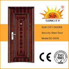 Высокое качество экономической одиночный стальной двери (ЅС-S039)