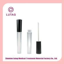 Tarro cosmético plástico lindo labio único brillo de contenedores