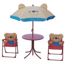 Niños muebles plegables portátiles juegos de jardín, mesa y sillas para niños
