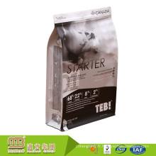 Le gousset latéral de fond plat imprimé par coutume tiennent le sac d'emballage de nourriture d'animal familier de chien de diverse capacité
