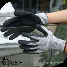 SRSAFETY 13G трикотажные латексные латексные латексные перчатки с защитой от пальцев / перчатки с антирежущей обработкой