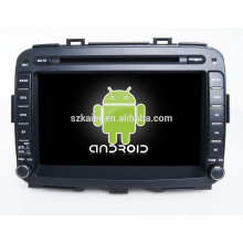 Glonass / GPS Android 4.4 Mirror-link TPMS DVR multimedia central del coche para KIA Carens con GPS / BT / TV / 3G
