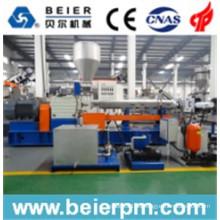 Masterbatch Plástico PE / PP / ABS Parrel Twin Screw Agua-anillo de granulación / Compounding / Reciclaje / Granulación de la máquina de extrusión