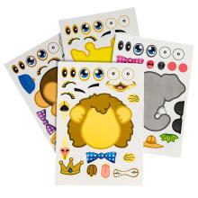 Partie fournitures autocollants de jeu amovible autocollants créatifs de bricolage pour les enfants