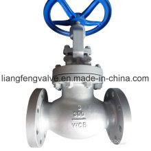 Válvula de extremidade de flange de extremidade ANSI de 300 lb RF com aço carbono