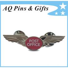 Pin de reconocimiento de metales de la oficina de correos con las impresiones (insignia-159)