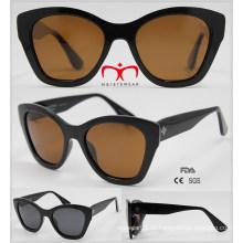 2016 moda óculos de sol de plástico para senhoras (wsp601529)