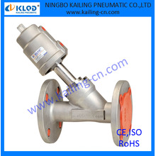 "flange connection, stainless steel material fire angle valve, KLJZF-1/2""SS-F"