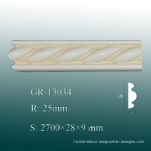 Economical Classical PU Decorative Moulding/ Home Polyurethane Baseboard Moulding