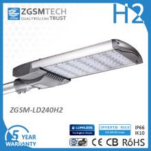 O diodo emissor de luz da rua do poder superior 240W ilumina IP66 Ik10 26400lm