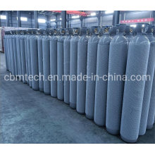 40L Steel Helium/Argon Cylinders 6m3 with Open Caps for Gas Plants