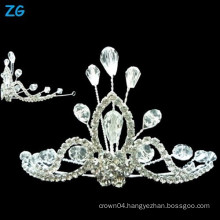 Fashion crystal beauty pageant crowns, crystal wedding crown