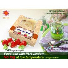 Neueste handgemachte Kuchen-Bäckerei-Verpackung mit dem Anti-Fog Windows