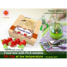 El paquete más nuevo hecho a mano de la panadería de la torta con Windows antiniebla