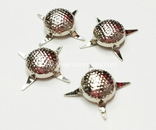 Metal Brads, Stippled Pearl Nailheads 4 Prong