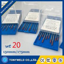 Soudage TIG 2% Thoriated 3.0 * 150mm électrode de tungstène rouge pour machines à souder TIG