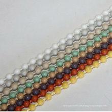 Cortinas de rolo cadeia de bola de plástico, 4,5 * 6 milímetros grossa bola esférica bola, cortina acessório, creme ou cor IVORY bola de grânulos de plástico