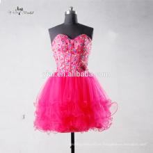 J-0094pink de lujo de alta calidad bling bling sexy cristal y vestidos de coctel de lentejuelas