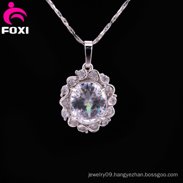 Hot Sale Copper White Stone Gold Plated Pendant