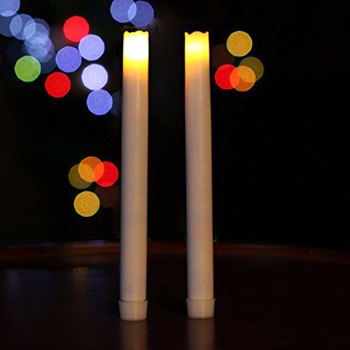 Smooth flameless real wax LED taper candle
