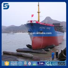 nave de goma inflable marina que lanza el saco hinchable