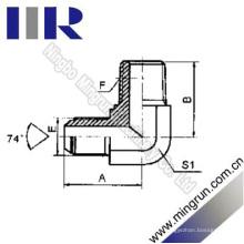 Coude mâle métrique 74 cône / BSPT mâle connecteur de tube (1QT9-SP)