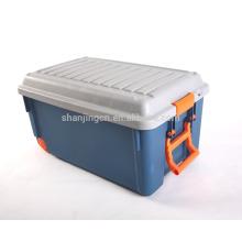 Haute qualité en gros robuste multifonction boîte de rangement en plastique avec serrure