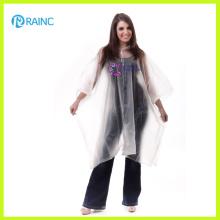 Poncho de lluvia transparente de PVC de lujo