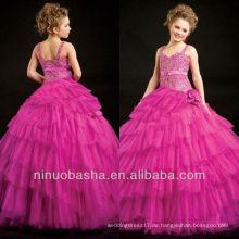 Fushia Tank Strap Mädchen Kleid