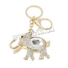 Jewely Hauptmatrial Rhinestone-Elefant-Zink-Legierungs-Schlüsselkette