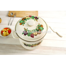 printed enamel high cooking pot Chinese enamelware wholesale