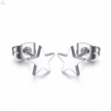 Wholesale Fashion Silver Star Shape Stainless Steel Star Women Earring
