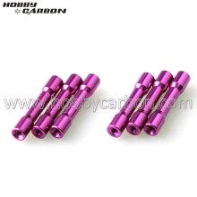 Separadores de aluminio anodizados escalonados disponibles
