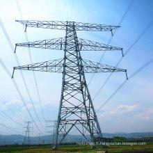 Transmission de puissance linéaire à double circuit 500kv Tour de tuyau d'acier