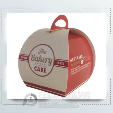 Top Grade Paper Snack Cake Box with Handle