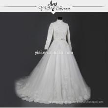 RSW733 lange Hülsen-hohe Ansatz muslimische Hochzeits-Kleid-Beispiel-Abbildungen 2015
