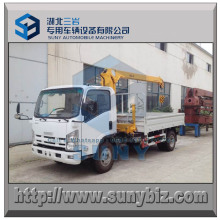 3 T Straight Arm Crane Isuzu Light Crane Truck