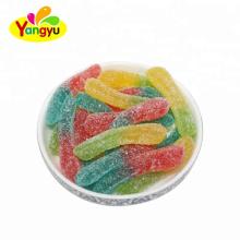 Wholesale Yummy Sugar Coated Earthworm Gummy Soft Candy In Bulk