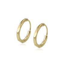 97227 xuping estilo simple 14k color oro elegante de alta calidad para mujer pendientes de aro