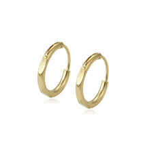 97227 xuping simple style 14k gold color elegant high quality ladies hoop earrings