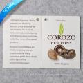 Etiqueta de papel de impressão dobrada de marca personalizada / etiqueta de balanço