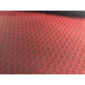 Red X Letter Jacquard Lining