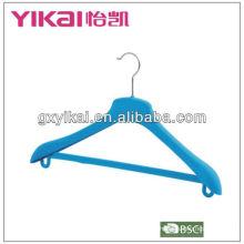 ABS plastic flocked coat hanger with BSCI,BRC Certificate